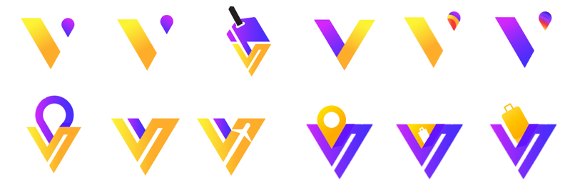 Viajero Logo with color round 1