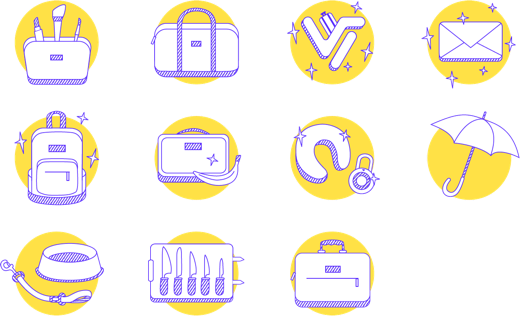 Viajero market icons